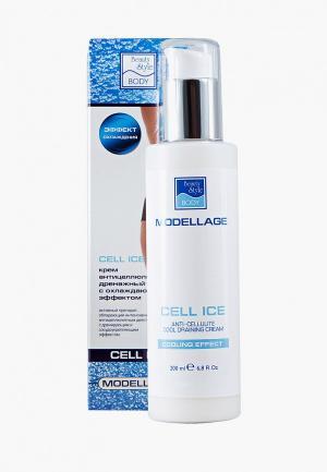 Крем для тела Beauty Style антицеллюлитный дренажный с охлаждающим эффектом, Cell Ice,  200 мл. Цвет: прозрачный