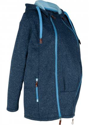Куртка из флиса для беременных bonprix. Цвет: синий