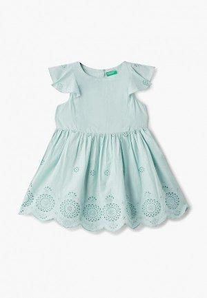 Платье United Colors of Benetton. Цвет: бирюзовый