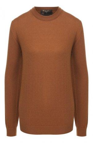 Шерстяной пуловер Loro Piana. Цвет: темно-бежевый