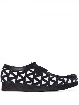 Туфли Wallabee на шнуровке Clarks Originals. Цвет: черный