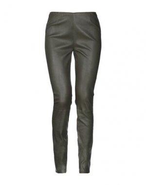 Повседневные брюки ENES. Цвет: зеленый-милитари