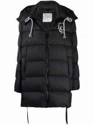 Zipped padded parka coat Ermanno. Цвет: черный