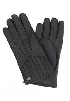 Перчатки PHILIPP PLEIN. Цвет: черный