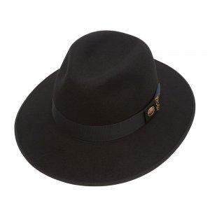 Шляпа федора CHRISTYS. Цвет: черный