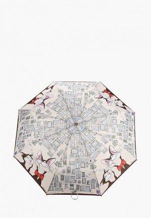 Зонт складной Eleganzza. Цвет: бежевый