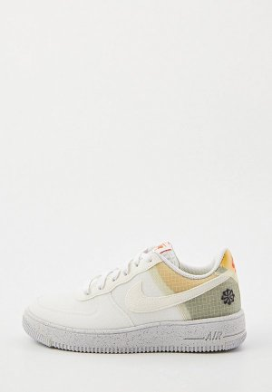 Кеды Nike AIR FORCE 1 CRATER (GS). Цвет: белый