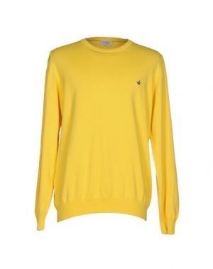 Свитер BROOKSFIELD. Цвет: желтый