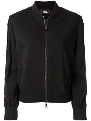 Куртка-бомбер свободного кроя Karl Lagerfeld. Цвет: черный