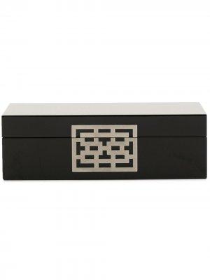 Шкатулка для запонок Lattice Shanghai Tang. Цвет: черный