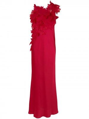 Floral appliqué gown Gloria Coelho. Цвет: красный