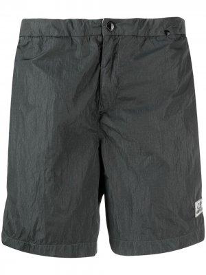 Плавки-шорты с нашивкой-логотипом C.P. Company. Цвет: зеленый