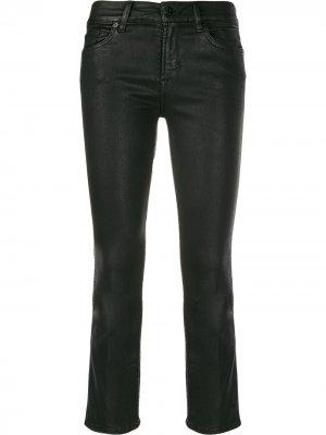 Укороченные брюки из искусственной кожи 7 For All Mankind
