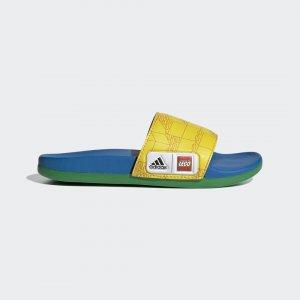 Детские шлепанцы Adilette Comfort x LEGO® adidas. Цвет: красный