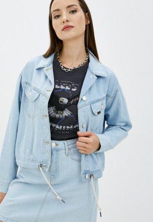 Куртка джинсовая Lee. Цвет: голубой