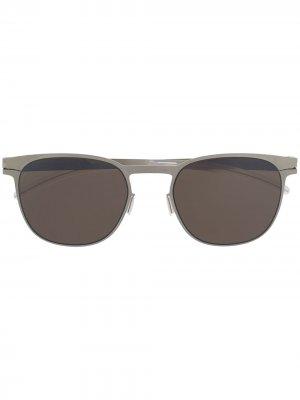 Солнцезащитные очки Easton Mykita. Цвет: серебристый