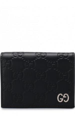 Футляр для кредитных карт с тиснением Signature Gucci. Цвет: синий