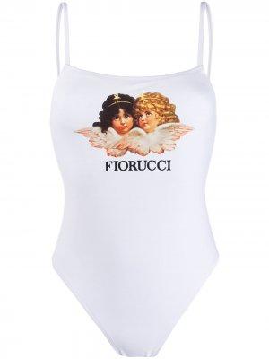 Купальник Angels Fiorucci. Цвет: белый