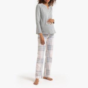 Пижама La Redoute. Цвет: серый