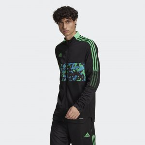 Олимпийка Tiro Graphic Sportswear adidas. Цвет: черный