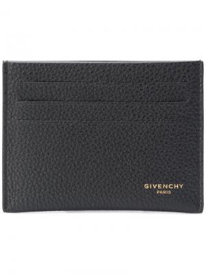 Визитница с логотипом Givenchy. Цвет: чёрный