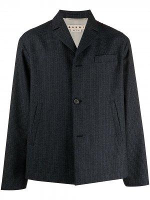 Однобортный пиджак в клетку Marni. Цвет: синий