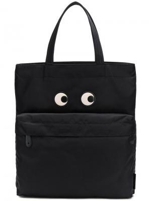 Eyes tote bag Anya Hindmarch. Цвет: черный
