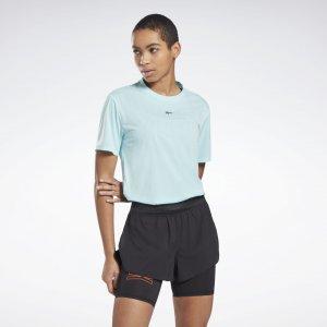 Спортивная футболка United By Fitness Perforated Reebok. Цвет: digital glow