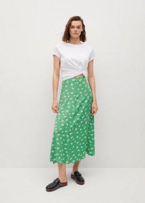 Миди-юбка с принтом - Sea Mango. Цвет: зеленый