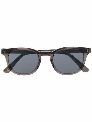 Солнцезащитные очки трапециевидной формы Eight & Bob. Цвет: серый