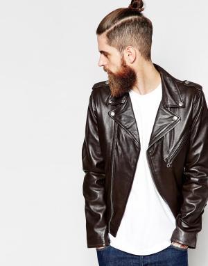 Байкерская кожаная куртка Schott