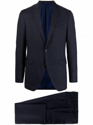 Полосатый костюм с однобортным пиджаком ETRO. Цвет: синий