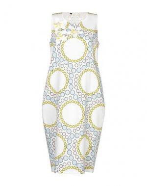 Платье до колена ANDREA TURCHI. Цвет: слоновая кость