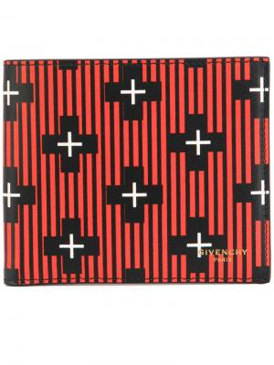 Визитница с крестами Givenchy. Цвет: чёрный