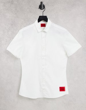 Белая рубашка с короткими рукавами Empson-W-Белый HUGO