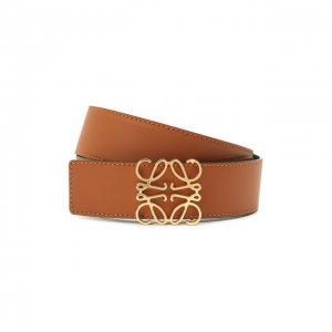 Кожаный ремень Loewe. Цвет: коричневый