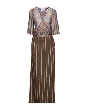 Длинное платье BRAND UNIQUE. Цвет: коричневый