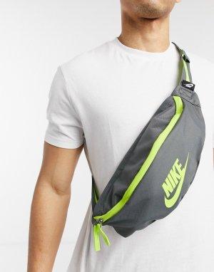 Темно-серая сумка-кошелек на пояс Heritage-Серый Nike