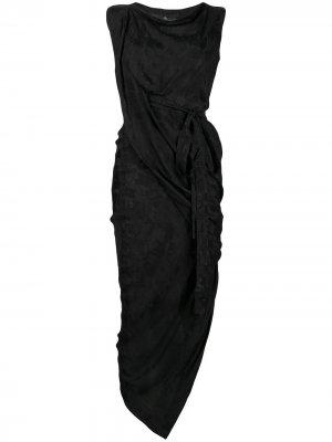 Жаккардовое платье миди Vivienne Westwood Anglomania. Цвет: черный