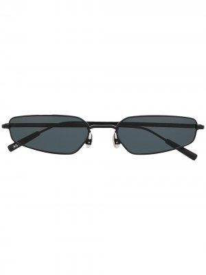 Солнцезащитные очки в овальной оправе AMBUSH. Цвет: черный
