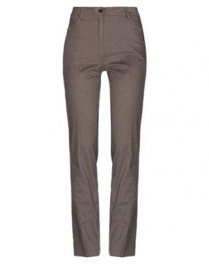 Повседневные брюки CANNELLA. Цвет: какао