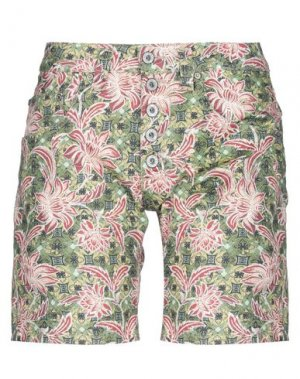 Бермуды PLEASE. Цвет: зеленый