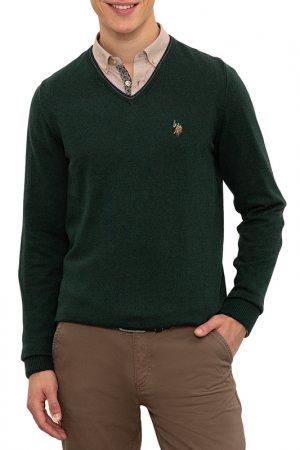 Пуловер U.S. Polo Assn.. Цвет: vr079 темно-зеленый
