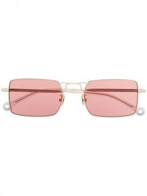 Солнцезащитные очки Paris в квадратной оправе Etudes. Цвет: золотистый