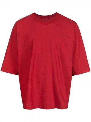 Release T2 short-sleeve T-shirt Homme Plissé Issey Miyake. Цвет: красный