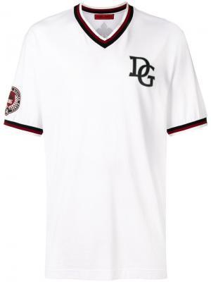 Бейсбольная футболка с заплаткой DG Dolce & Gabbana. Цвет: белый