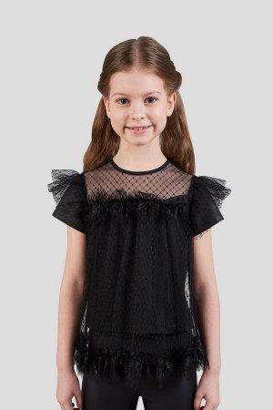 Блуза Choupette. Цвет: чёрный
