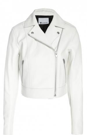 Кожаная куртка T by Alexander Wang. Цвет: белый