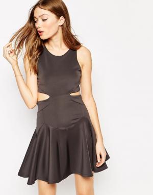 Платье с вырезами по бокам Isabelle Boulee. Цвет: угольный
