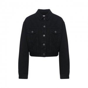 Джинсовая куртка Valentino. Цвет: чёрный